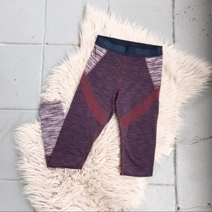Abercrombie & Fitch Maroon & Navy Blue Leggings S